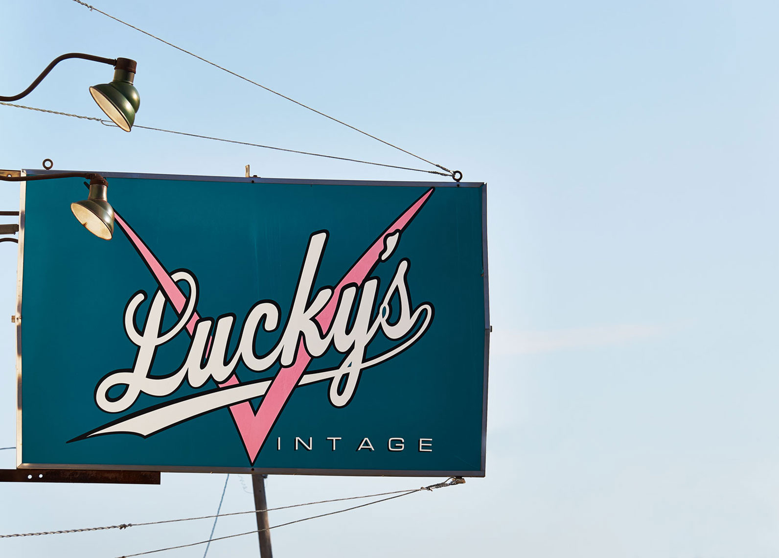 Luckys Vintage Sign
